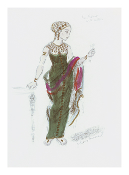 Designs for Cleopatra XLII Fine Art Print by Oliver Messel