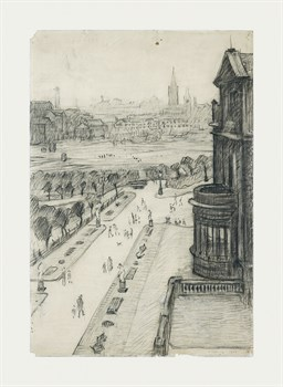A View From The Window Of The Royal Technical College, Looking Towards Manchester, 1924 Fine Art Print by L.S. Lowry