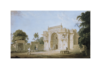 A Mosque, Chunargarh Fine Art Print by Thomas and William Daniell