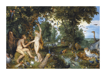 The Garden of Eden with the Fall of Man, c.1615 Fine Art Print by Sir Peter Paul Rubens