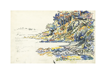 The Calanque at Saint Tropez Fine Art Print by Paul Signac