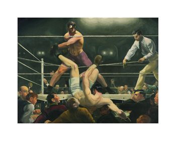 Dempsey and Firpo Fine Art Print by George Wesley Bellows