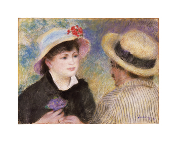 Boating Couple (Aline Charigot and Renoir) Fine Art Print by Pierre Auguste Renoir