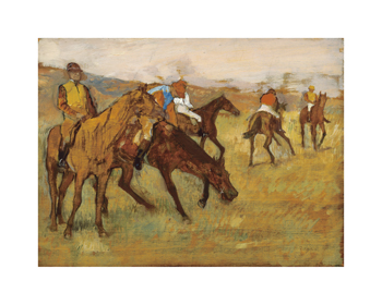 Before the Race Fine Art Print by Edgar Degas