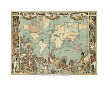 Extent of the British Empire in 1886 Fine Art Print by Walter Crane