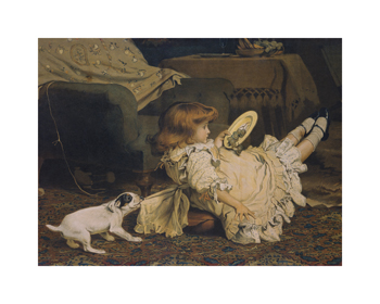 A Playful Tug Fine Art Print by Charles Burton Barber