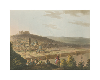 View of Jerusalem from the Mount of Olives Fine Art Print by Luigi Mayer