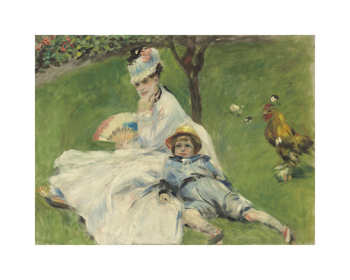 Madame Monet and her Son Fine Art Print by Pierre Auguste Renoir