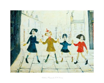 Children Playing Print by L.S. Lowry