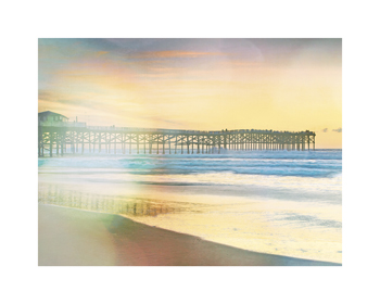 California Cool - Jetty in Focus Print by Chuck Brody