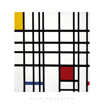 Opposition of Lines: Red and Yellow Print by Piet Mondrian