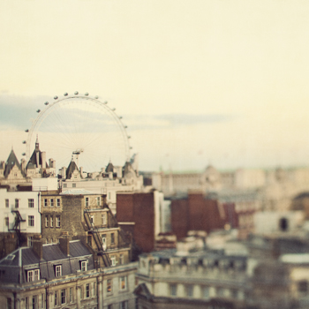 Eye on London Print by Irene Suchocki