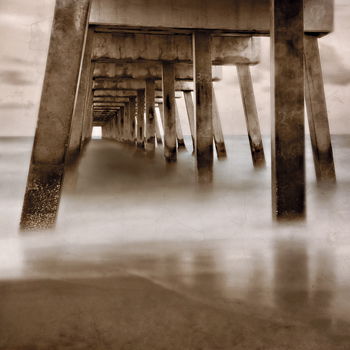 Beach Pier Print by Wink Gaines