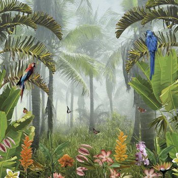 Jungle Jaunt Canvas Print by Amy Shaw