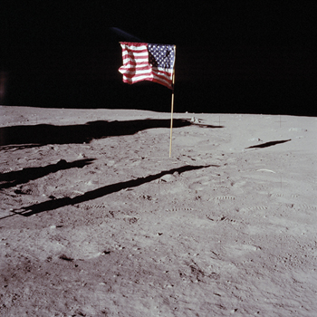 Deployed Flag - 1969 Print by Contemporary Photography