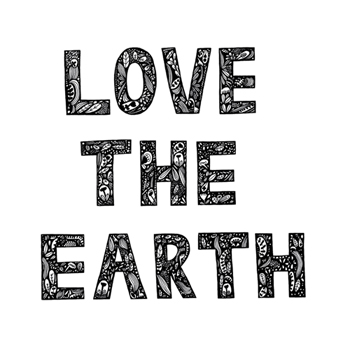 Love the Earth Print by Virginia Kraljevic