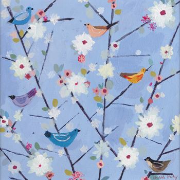 Birds In A Bush Canvas Print by Charlotte Hardy