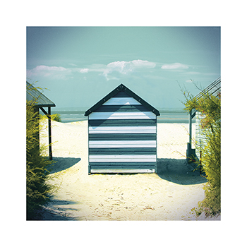 Beach Hut Print by Bill Philip