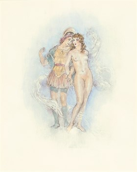 A Midsummer Night's Dream Act III Fine Art Print by Edouard Chimot