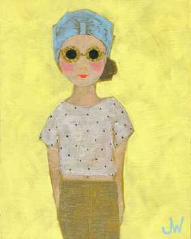 Petite Fille en Beige Canvas Print by Joelle Wehkamp