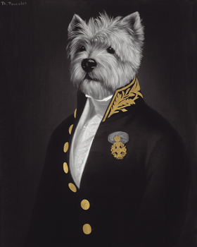 Portrait Dore - The Officer's Mess Print by Thierry Poncelet