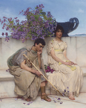 An Eloquent Silence Print by Sir Lawrence Alma-Tadema