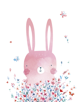 Spring Bunny Canvas Print by Clara Wells