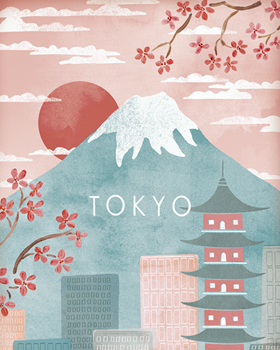 A Postcard From Tokyo Canvas Print by Clara Wells