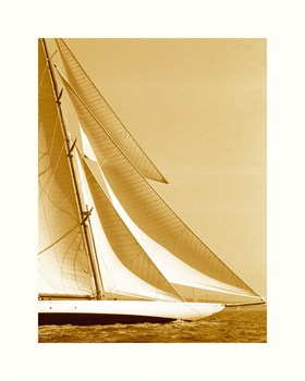 Classic Yacht I - Sepia Print by Ingrid Abery