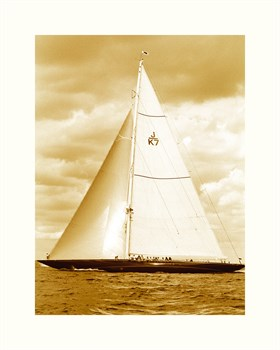 Classic Yacht II - Sepia Print by Ingrid Abery