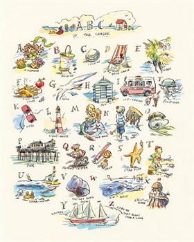 ABC of The Seaside Print by Claire Fletcher