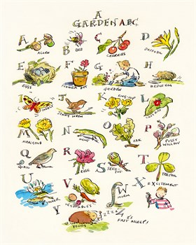A Garden ABC Print by Claire Fletcher
