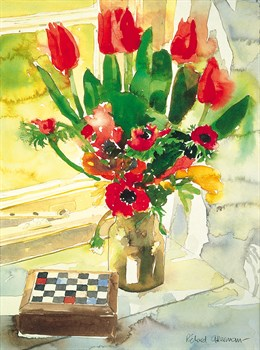 Tulips and Anemones by Richard Akerman Standard