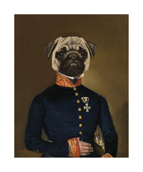 Proudly Pug Fine Art Print by Thierry Poncelet