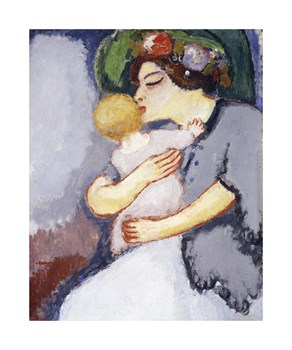 My Child and Her Mother: 1908 Fine Art Print by Kees Van Dongen