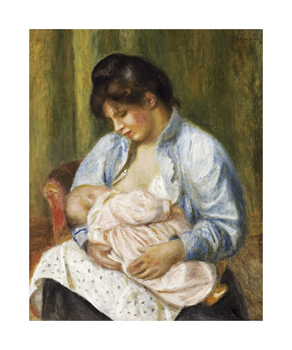 A Woman Nursing a Child Fine Art Print by Pierre Auguste Renoir