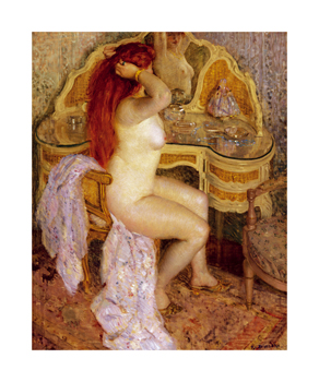 Nude Seated at Her Dressing Table, 1909 Fine Art Print by Frederick Carl Frieseke