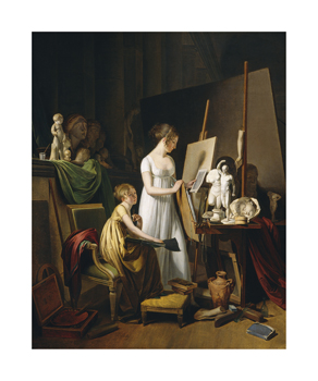 A Painter's Studio, c.1800 Fine Art Print by Louis Leopold Boilly