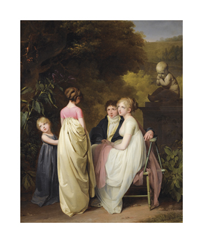 Conversation Dans Un Parc Fine Art Print by Louis Leopold Boilly