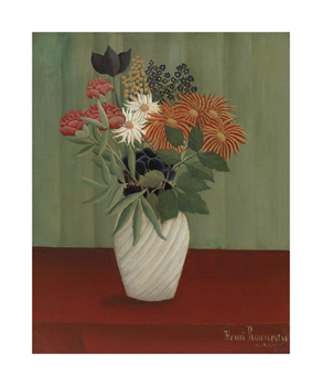 Bouquet of Flowers with China Asters and Tokyos, 1910 Fine Art Print by Henri Rousseau
