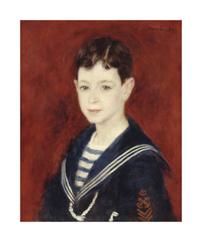 Fernand Halphen as a Boy Fine Art Print by Pierre Auguste Renoir