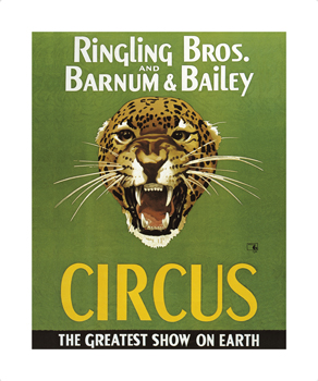 Barnum And Bailey Circus Fine Art Print by The Vintage Collection