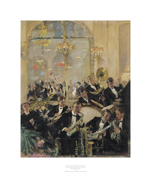 Jazz Band, Savoy Hotel, London Print by Harold Septimus Power
