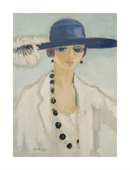 Lady with Beads: 1923 Fine Art Print by Kees Van Dongen