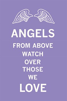 Angels From Above Watch Over Those We Love Print by The Vintage Collection