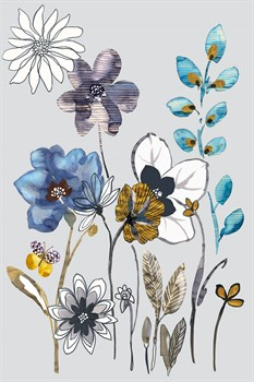 Field Flowers I Print by Sandra Jacobs