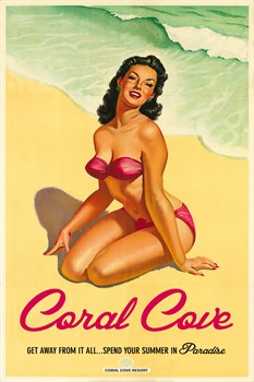 Coral Cove Print by The Vintage Collection