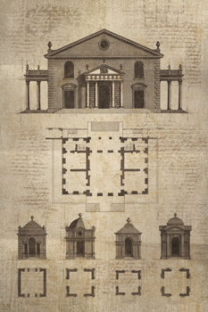 Architectural Sketch II Print by School of Padua