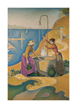 Women at the Well Fine Art Print by Paul Signac