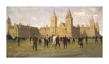 Charterhouse v. Old Carthusians, 1892 Fine Art Print by 19th Century English School